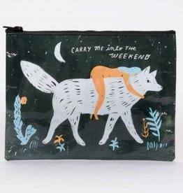 "Blue Q ""Carry Me Into The Weekend"" Medium Zipper Pouch by Blue Q"
