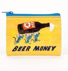 "Blue Q ""Beer Money"" Zip Coin Pouch Purse by Blue Q"