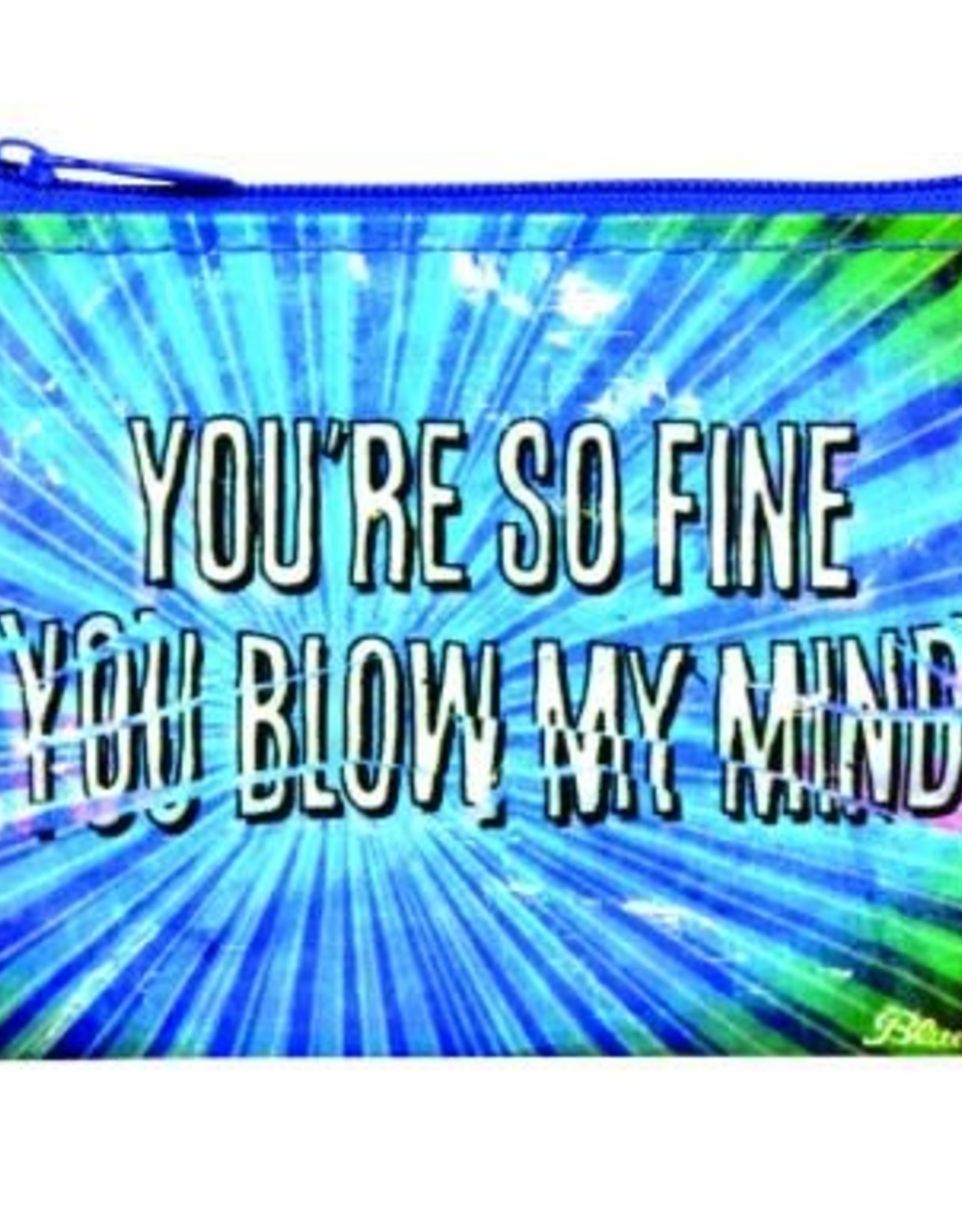 "Blue Q ""You're So Fine"" Zip Coin Pouch Purse"