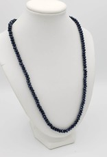 Black Crystals Single Strand Necklace
