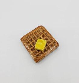 Ceramic Waffle Magnet by KattSplatt!