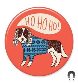 Badgebomb Happy Holidays Dog Big Magnet