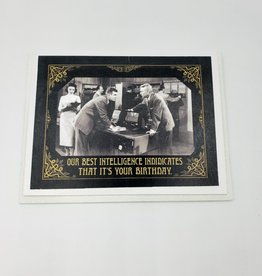 """""""Our Best Intelligence"""" Birthday Greeting Card by Alternative Histories"""