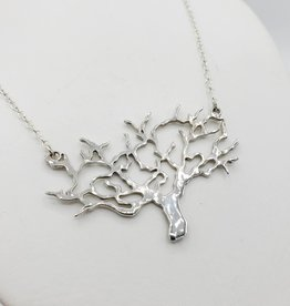 Peter James Jewelry Tree Cutout Necklace, Sterling Silver
