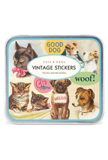 Cavallini Papers Stickers Pack Vintage Cat & Dog - Cavallini