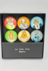 Wild Animals in Suits Glass Magnet Set of 6
