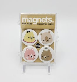 Badgebomb Bear Heads Magnet Set of 4 by Badge Bomb
