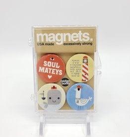 Badgebomb Soul Mateys Magnet Set of 4 by Badge Bomb