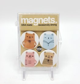 Badgebomb Bears Magnet Set of 4 by Badge Bomb
