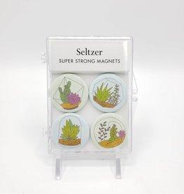 Seltzer Terrarium Magnet Set of 4 by Seltzer