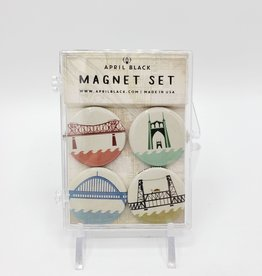 Magnet Set Portland Bridges by April Black