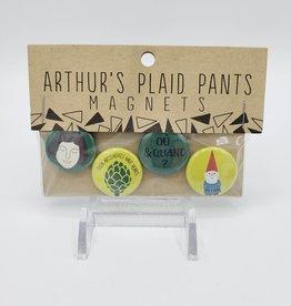 Amelie Magnet Set of 4, by Arthur's Plaid Pants