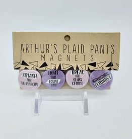 Smash the Patriarchy Magnet Set of 4, by Arthur's Plaid Pants