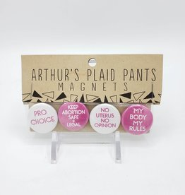 Pro Choice Magnet Set of 4, by Arthur's Plaid Pants