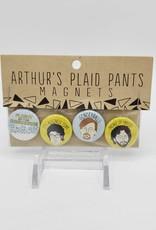Flight of the Concords Magnet Set of 4, by Arthur's Plaid Pants