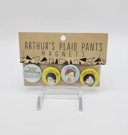 Flight of the Concords Magnet Set of 4, by Arthur's Plaid Pants
