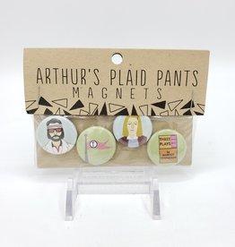 Royal Tenenbaums Magnet Set of 4, by Arthur's Plaid Pants