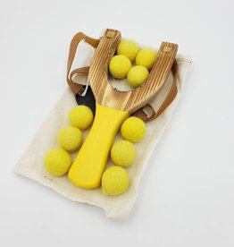 Sling Shot with Wool Felt Balls - Little Lark