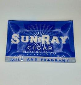 "Vintage Cigar Label Dish Plates ""Sun Ray"""