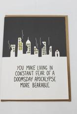 """Doomsday Apocalypse"" Love Greeting Card"