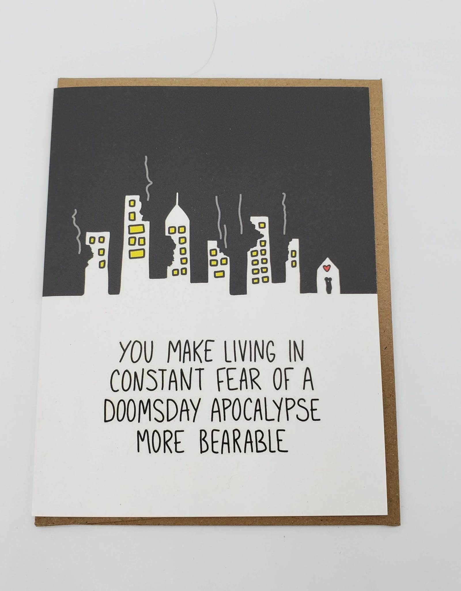 """Doomsday Apocalypse"" Love Greeting Card"