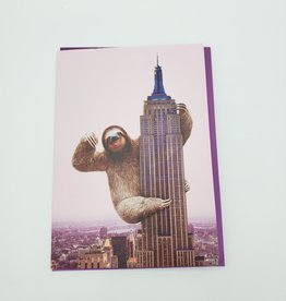 Sloth Climbing the Empire State Building Greeting Card
