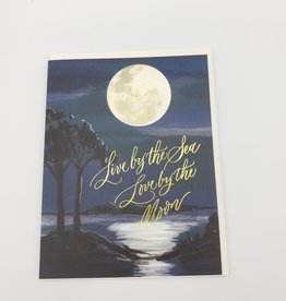 """""""Love By The Moon"""" Greeting Card - Antiquaria"""
