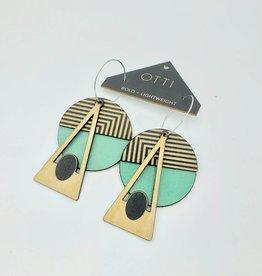 OTTI Goods Geo Deco Earring in Seafoam by OTTI Goods