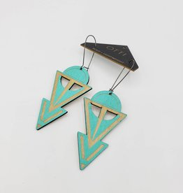 OTTI Goods Coven Earring in Turquoise by OTTI Goods