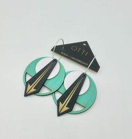 OTTI Goods Arrow Earring in Turquoise by OTTI Goods
