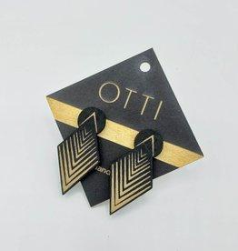 OTTI Goods Arrow Drop Stud Earring in Black by OTTI Goods