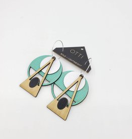 OTTI Goods Deco Earring in Turquoise by OTTI Goods