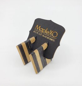 Maple XO Adelaide Earrings recycled skateboard