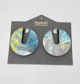 Maple XO Alkali skateboard Earrings, sterling - Maple XO Earrings
