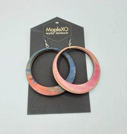 Maple XO Big Hoop Earrings- Maple XO
