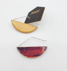Maple XO Luna skateboard Earrings, Sterling Earwire- Maple XO