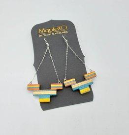 Maple XO Fortress Skateboard Earrings - Maple XO