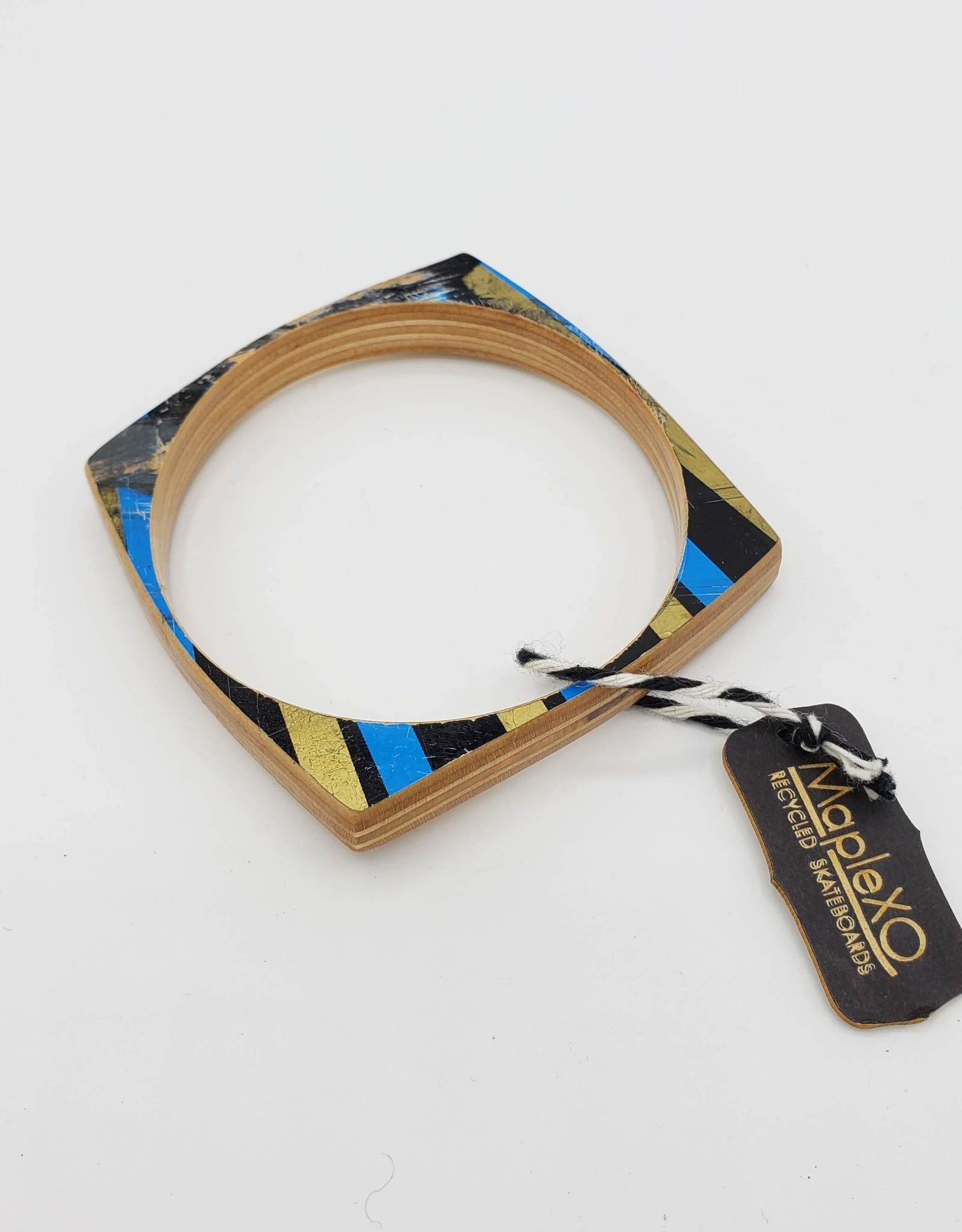 Maple XO Boxcar Bangle Bracelet - Maple XO