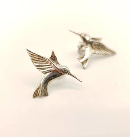 Hummingbird Post Earring, Sterling Silver