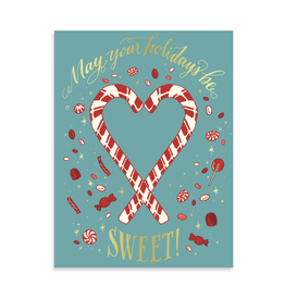 May Your Holidays Be Sweet Greeting Card by Ladyfingers