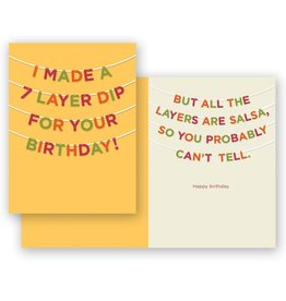 Mincing Mockingbird 7-Layer Dip Birthday Greeting Card - The Mincing Mockingbird