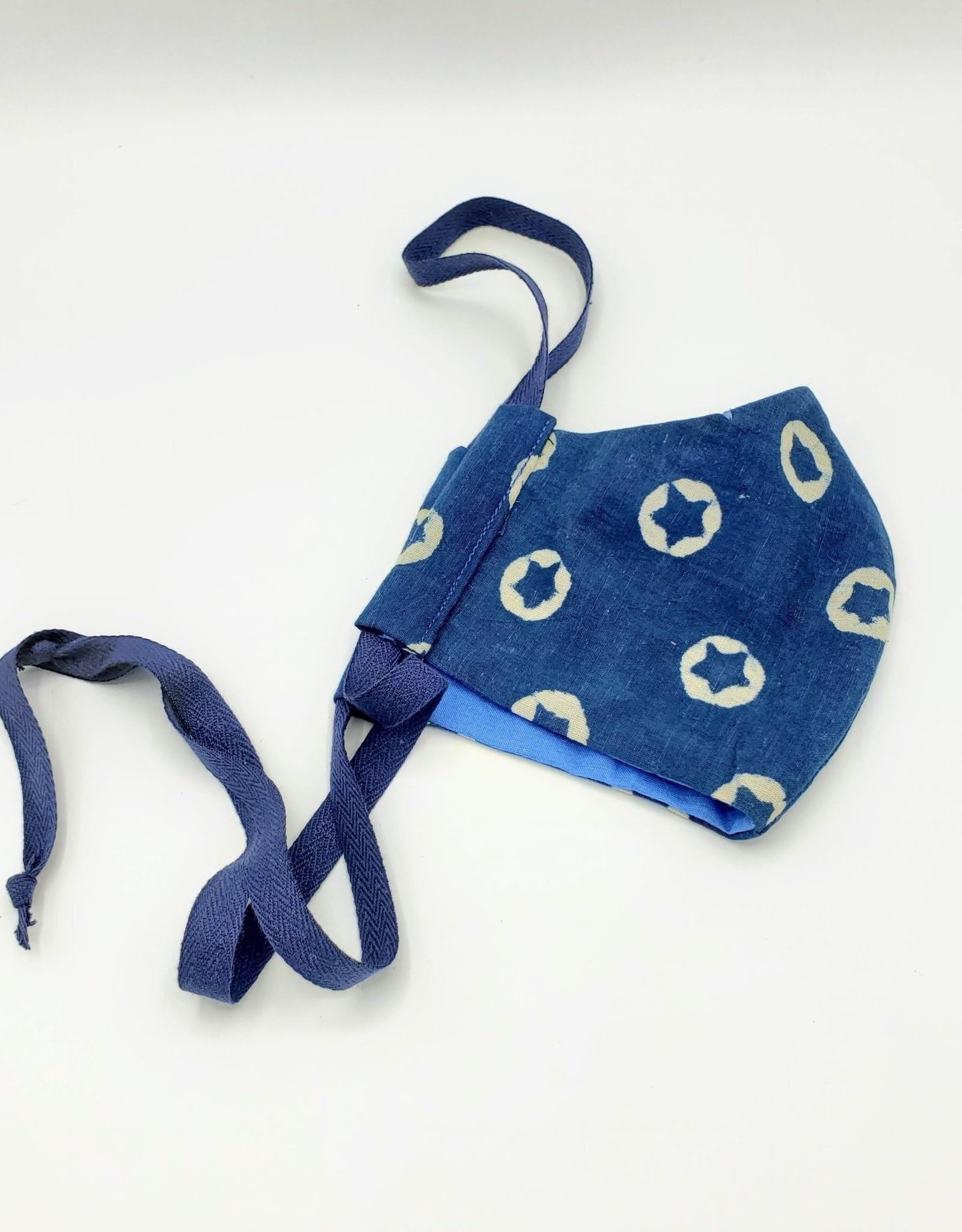 Redux Shibori Indigo Mask - Handmade Fabric Face Mask