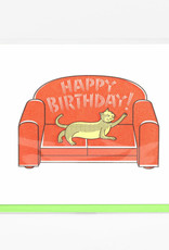 """""""Cat Scratching the Sofa"""" Birthday Greeting Card - Fickle Hill"""