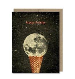 Ice Cream Moon Birthday Greeting Card - The Galek Sea