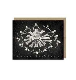 Synchronized Swimmers in Space Birthday Greeting Card - The Galek Sea