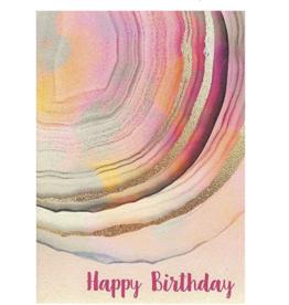 Happy Birthday Agate Greeting Card - Calypso