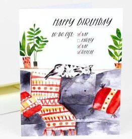 """""""To Do List"""" Birthday Greeting Card - Loose Leaves"""