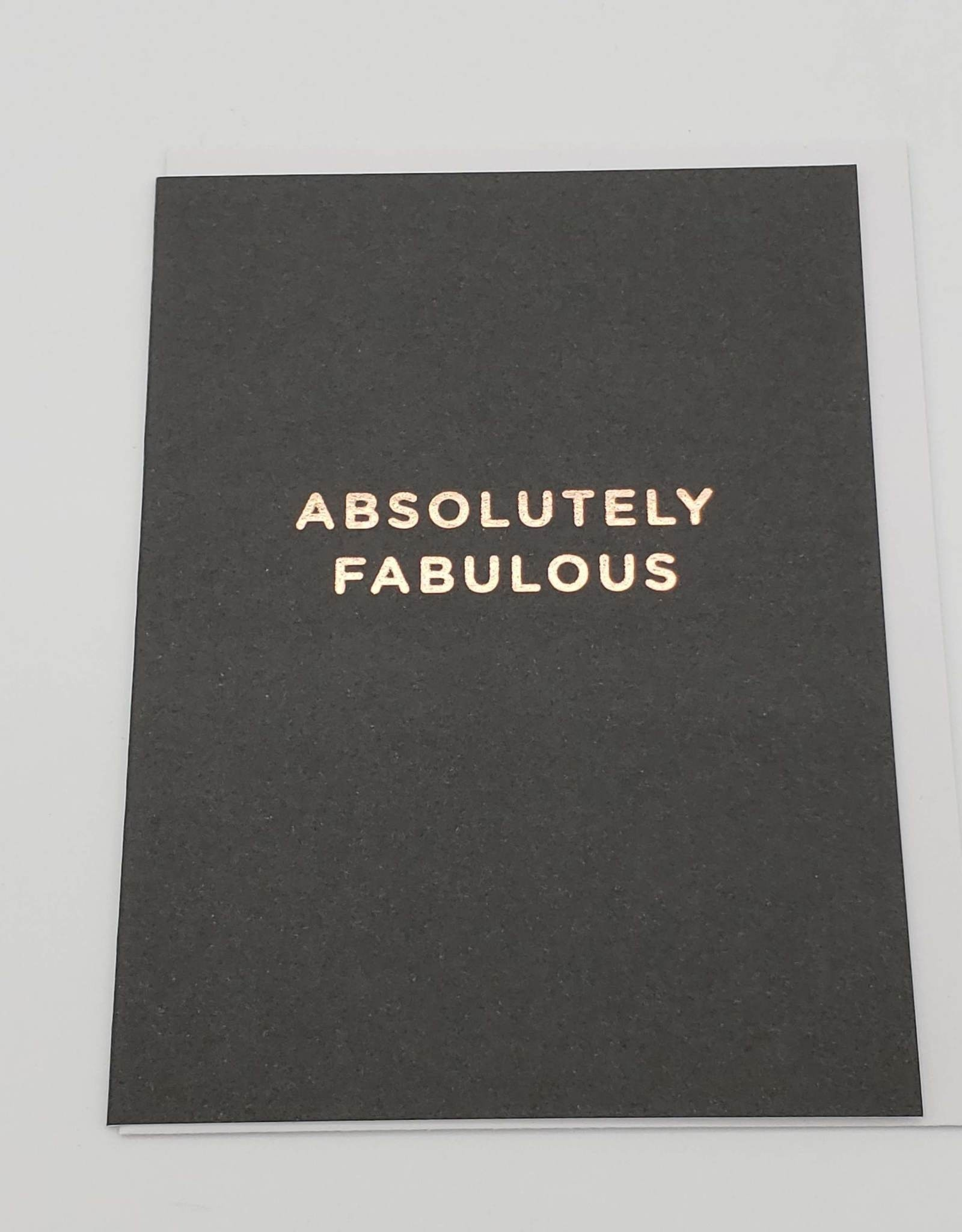 """Absolutely Fabulous"" - Greeting Card by Lagom Design"