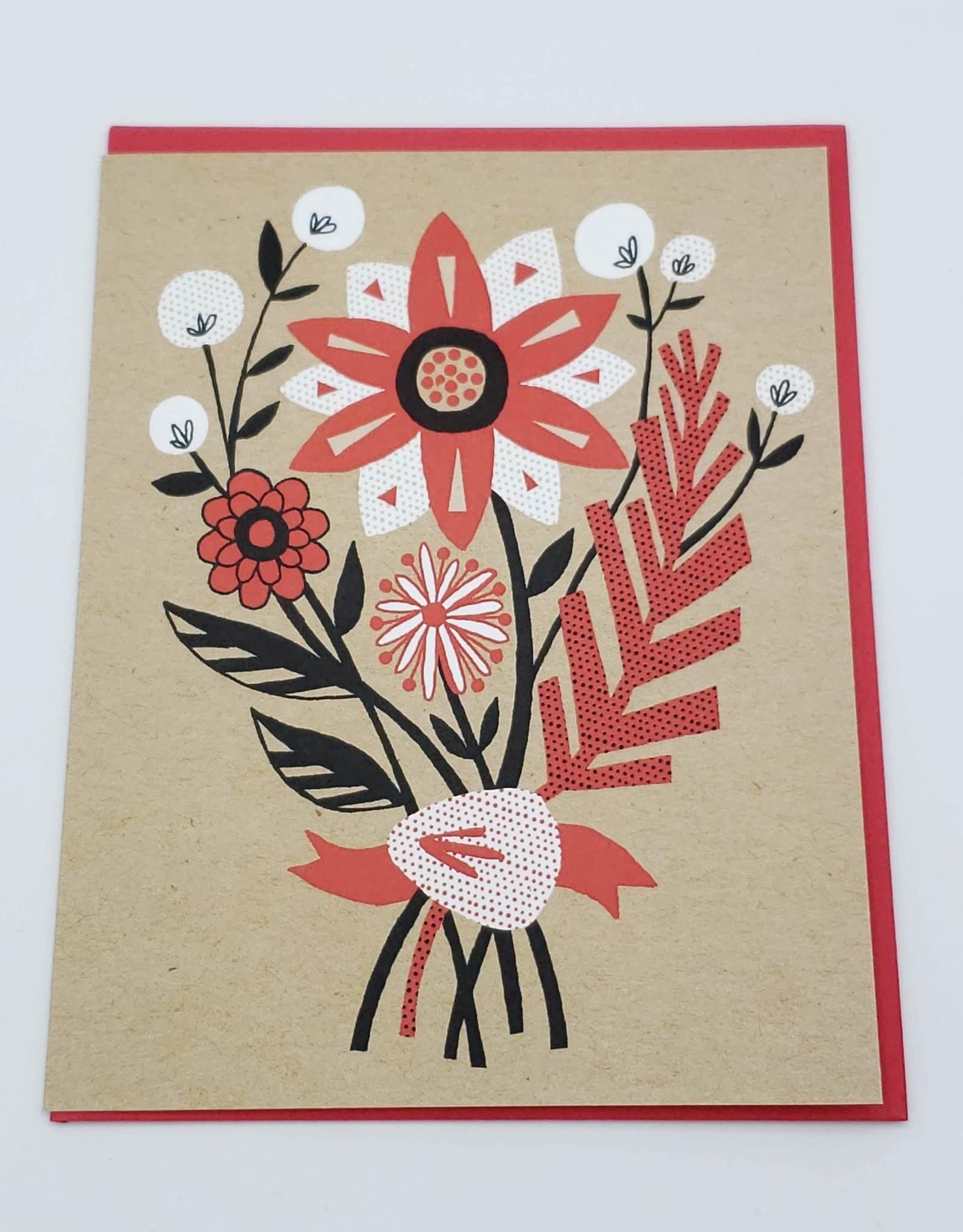 """Allison Cole """"Floral Bouquet"""" Greeting Card - Allison Cole"""