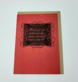 """Roses are Red"" Love Greeting Card - Blue Barnhouse"